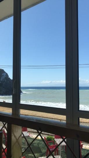 La vista dall'hotel Zi Bak...