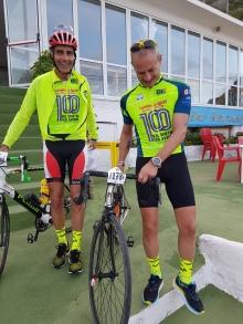 Andrea e Simone: calze e bici Cicli Scotto :)